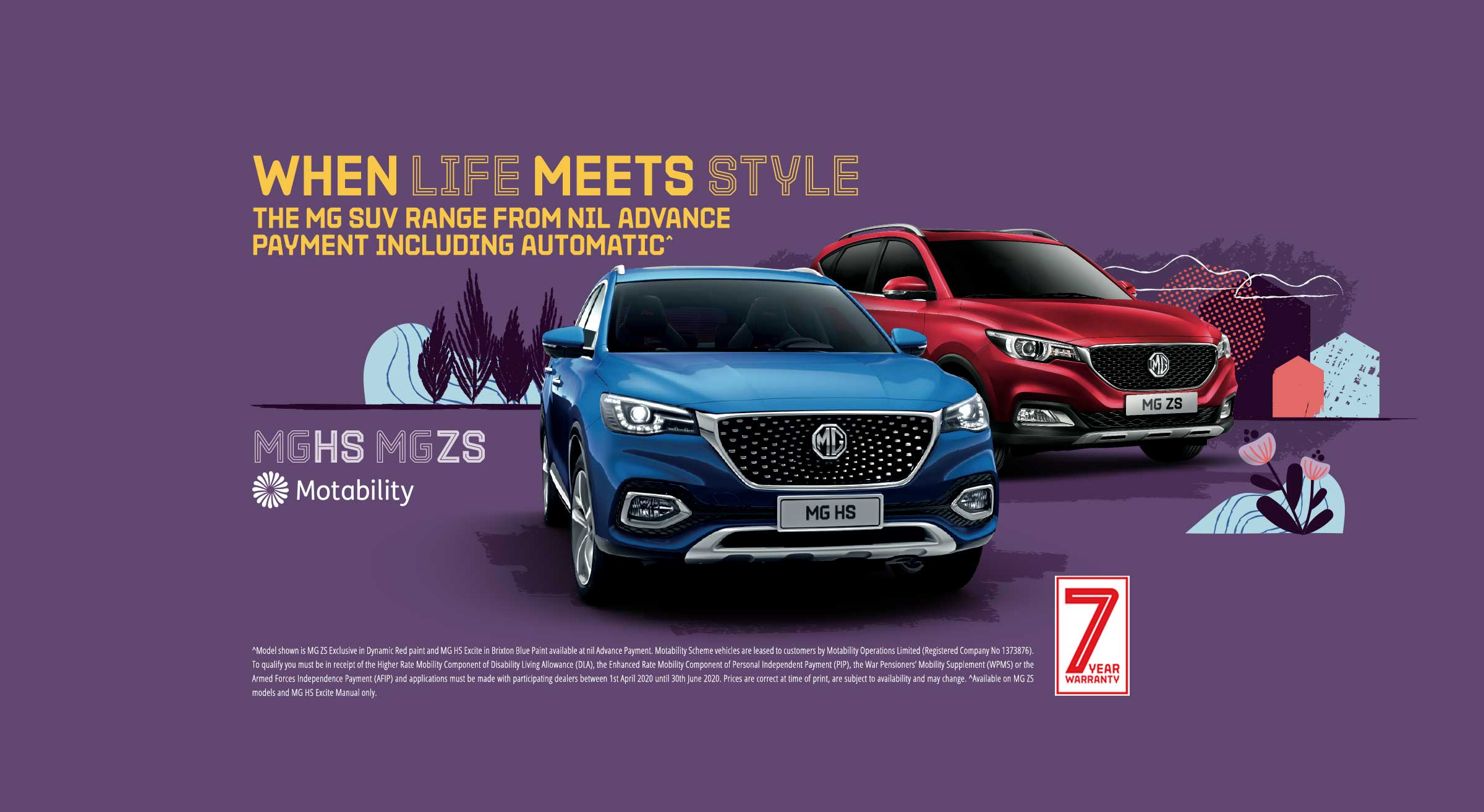 MG Motability offers